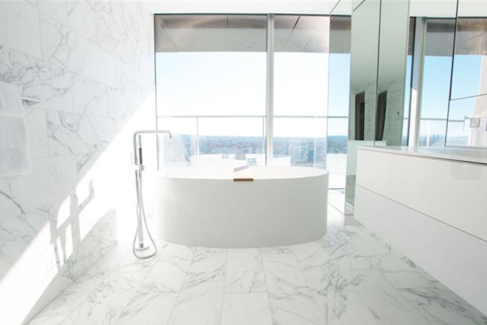 marble washroom vancouver house penthouse 1480 howe street