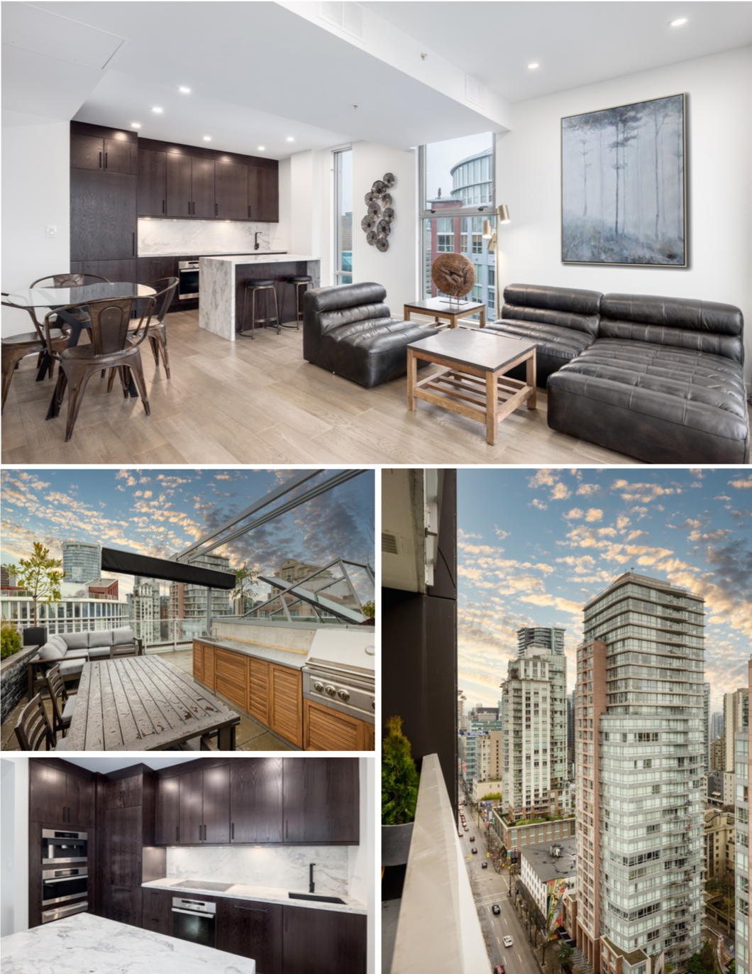 modern downtown vancouver penthouse for sale