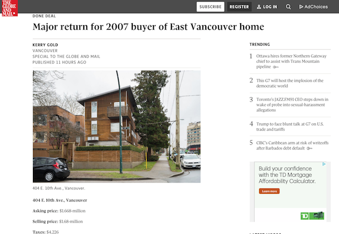 modern home vancouver globe and mail news