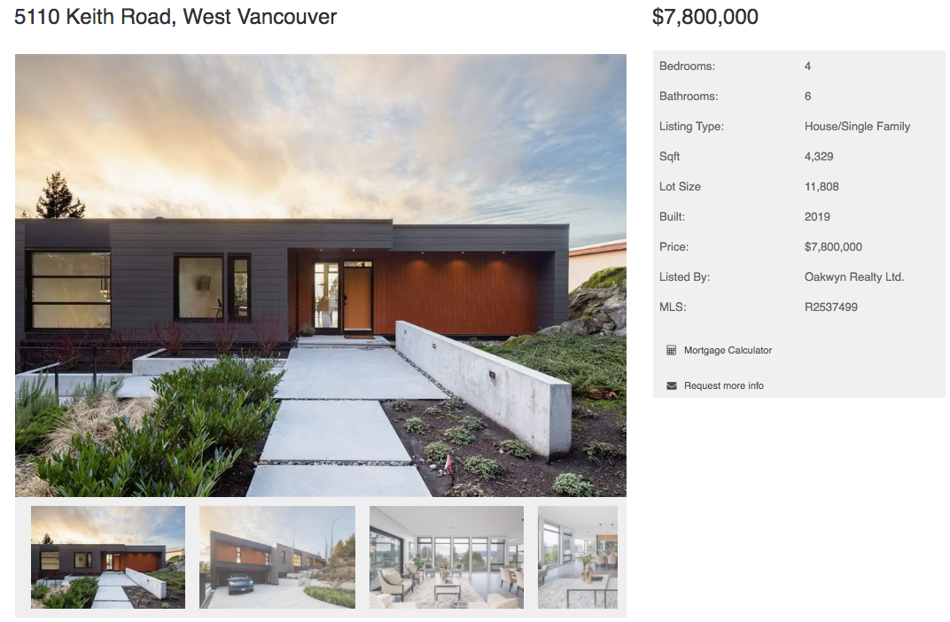 modern west vancouver house for sale