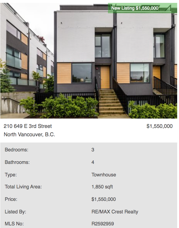 north vancouver modern homes for sale