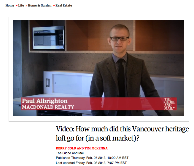 paul albrighton globe and mail video