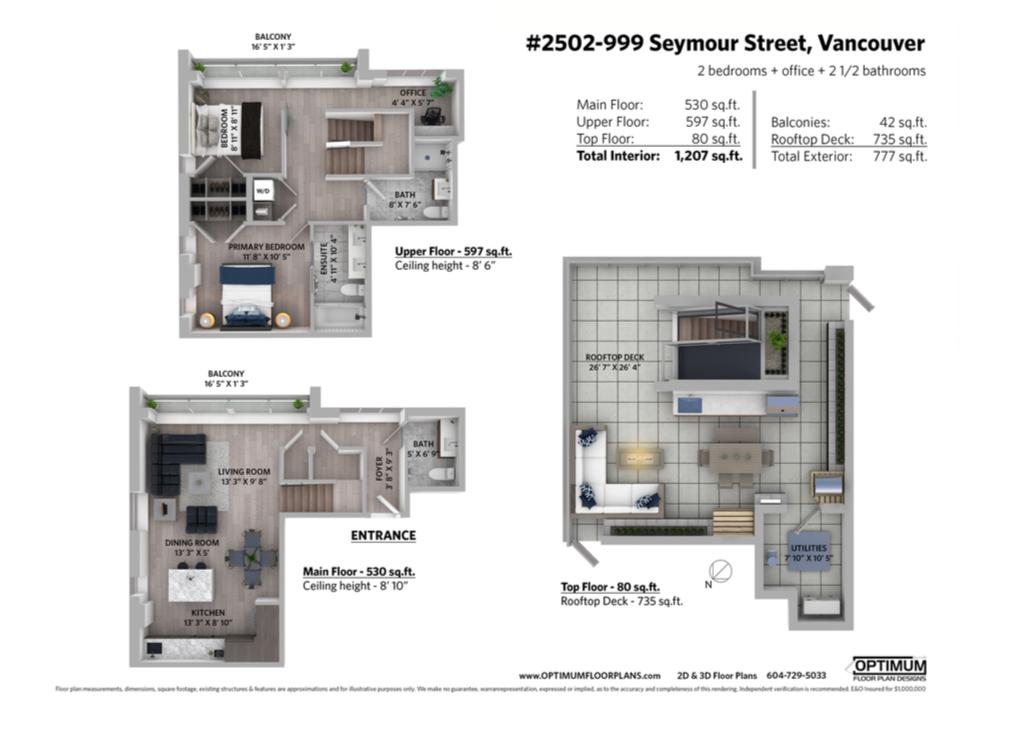 penthouse vancouver floor plan