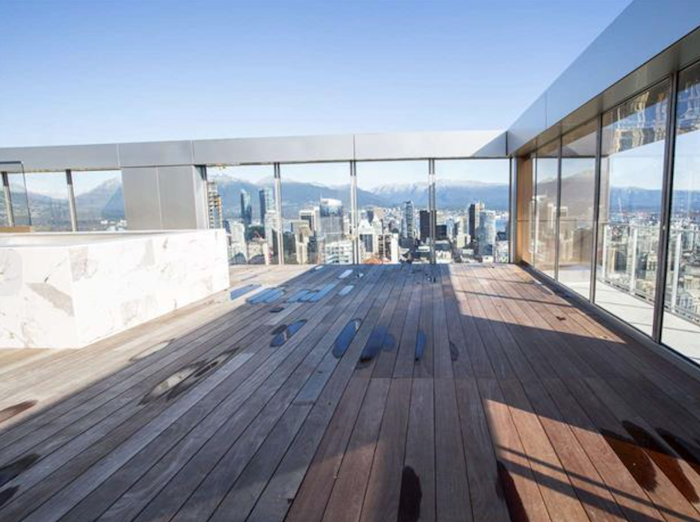 private rooftop and pool vancouver house penthouse 1480 howe street