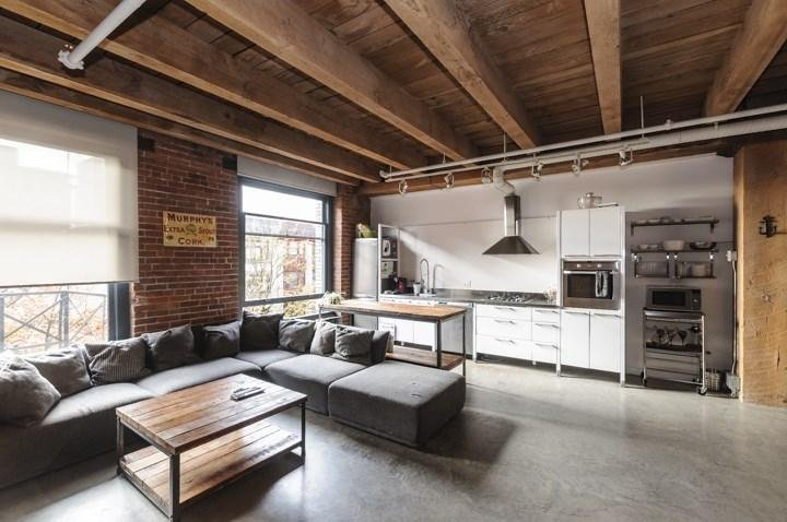Beautiful loft living area at Koret Lofts