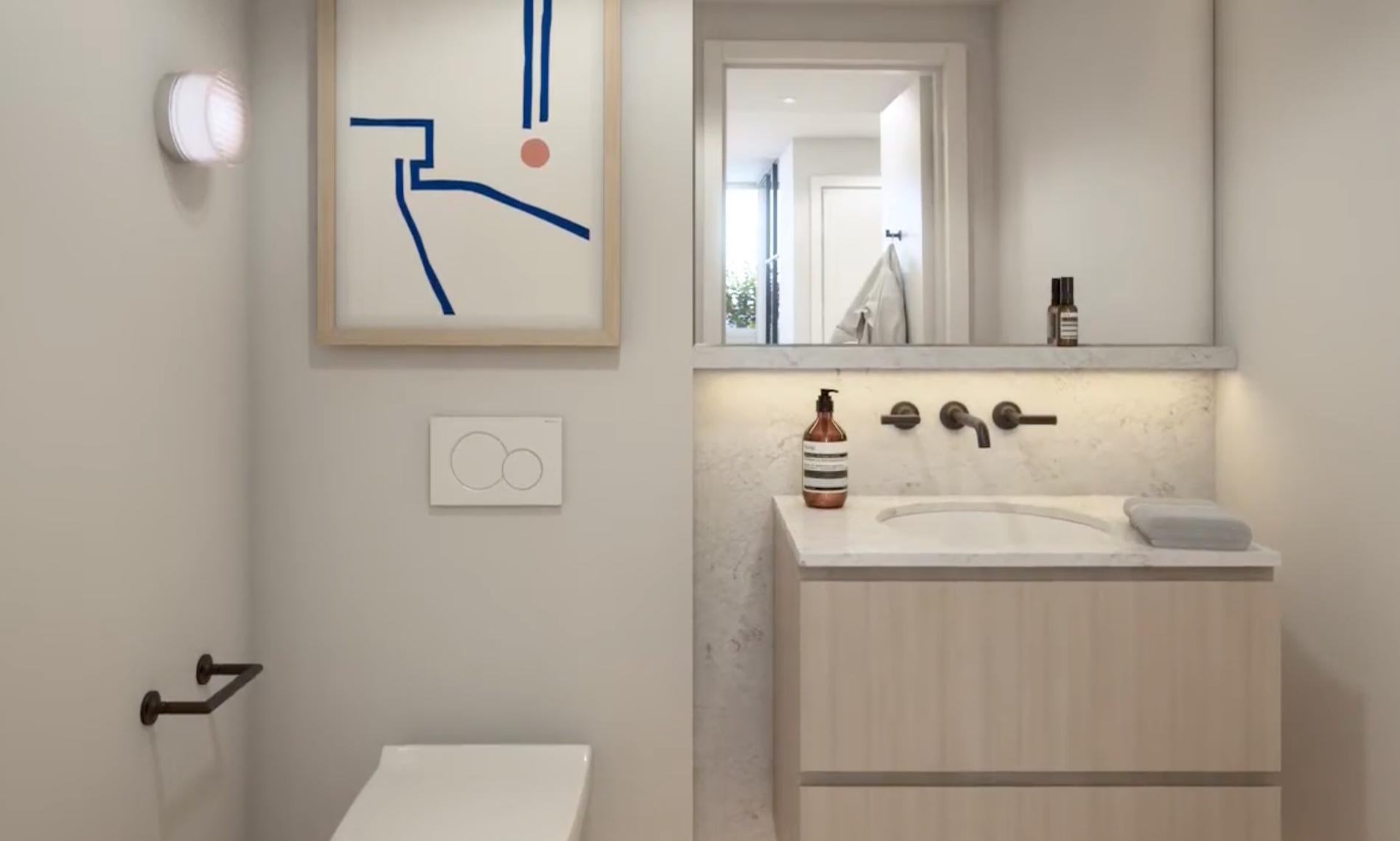 modern bathroom westend vancouver
