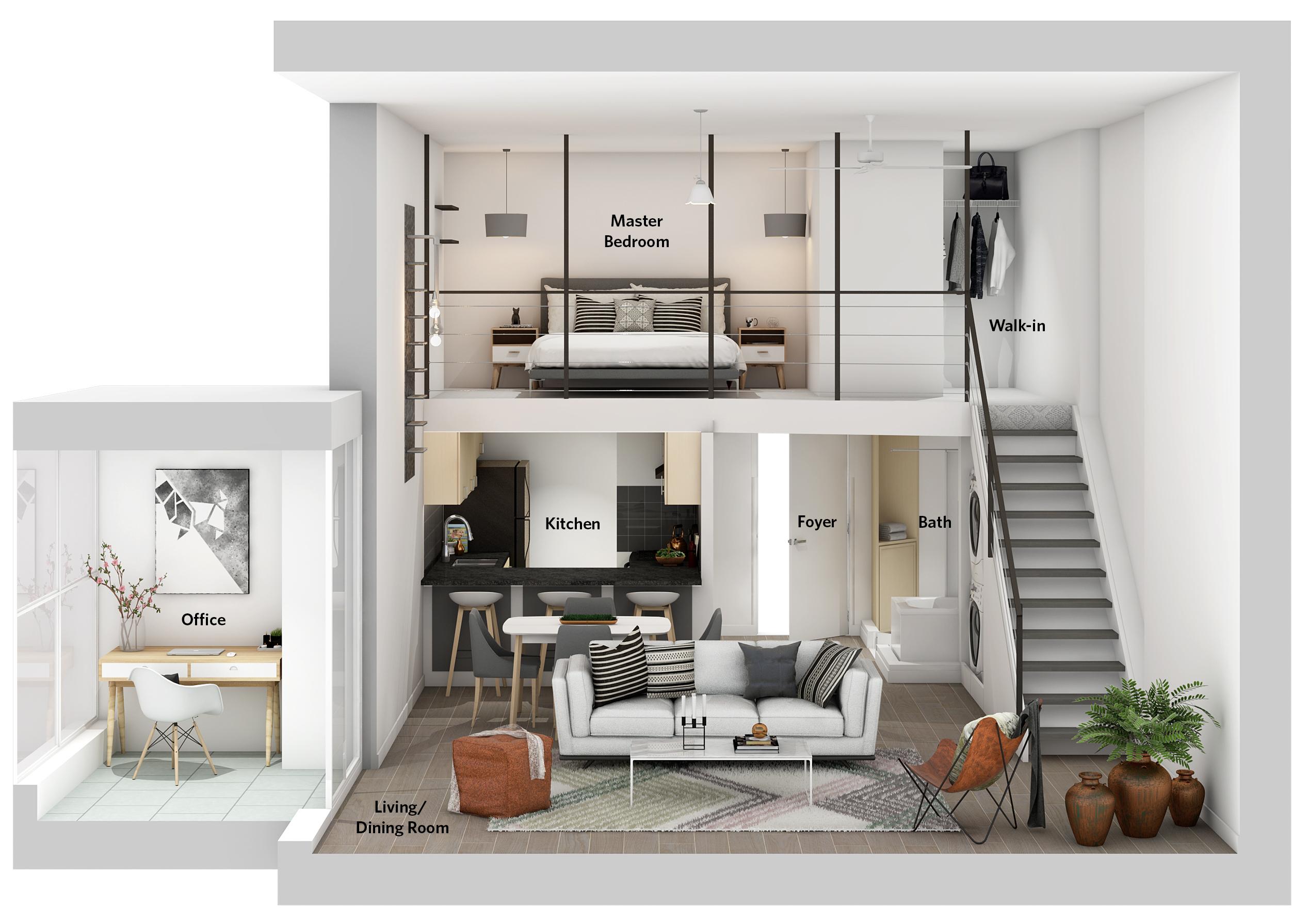 R2430564 - 1238 Seymour St Floor Plan Rendering -  Paul Albrighton