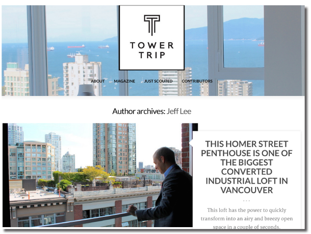 Tower Trip Magazine Interviews Paul Albrighton and a beautiful 4 million dollar heritage loft