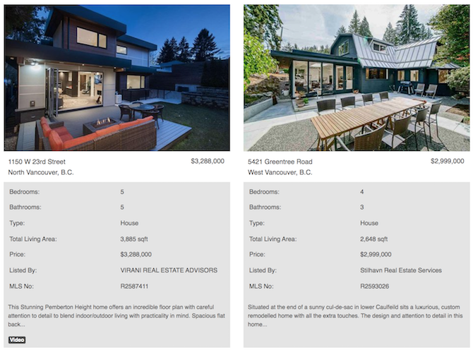 west vancouver  north vancouver modern homes for sale