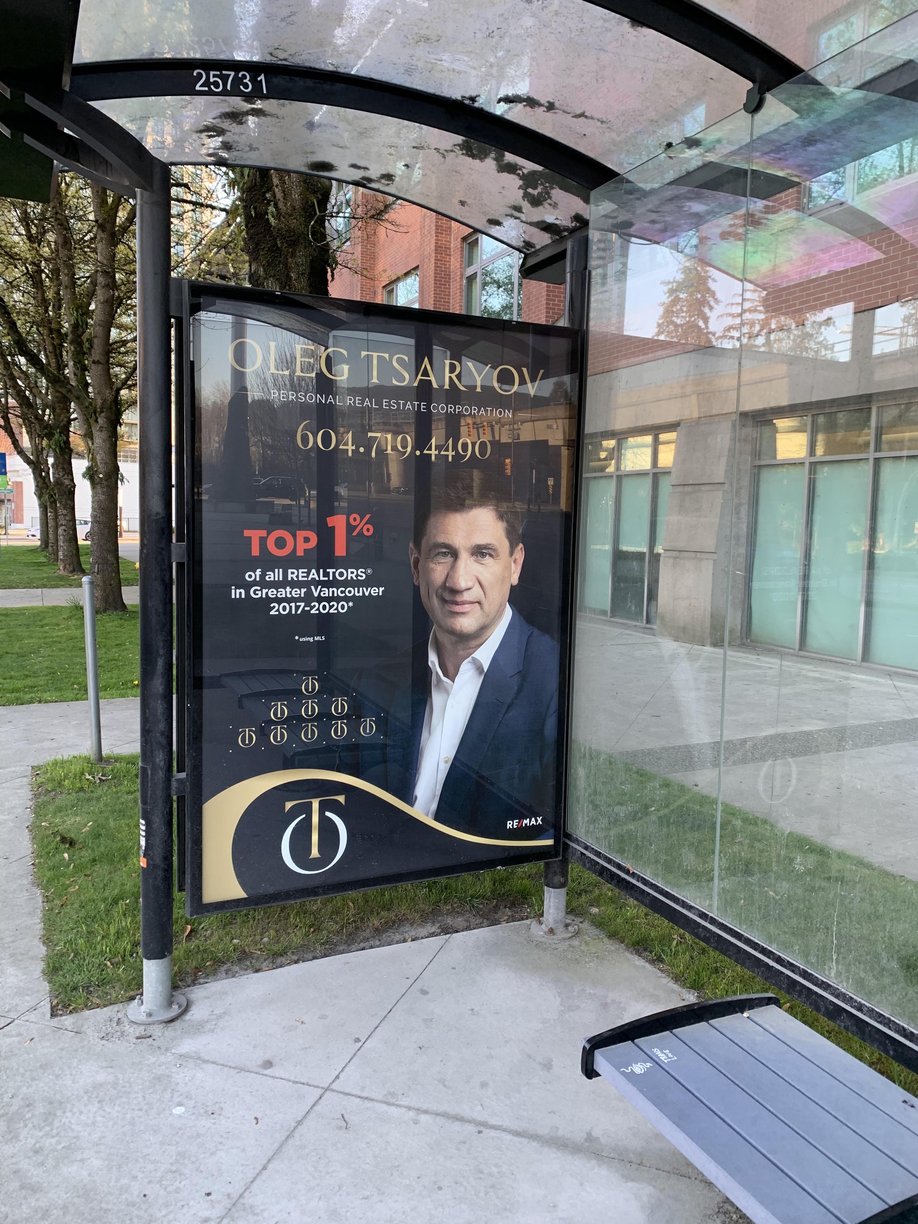 bus stop in coquitlam