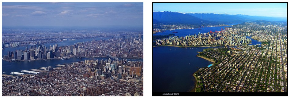 Downtown Vancouver Vs Manhattan