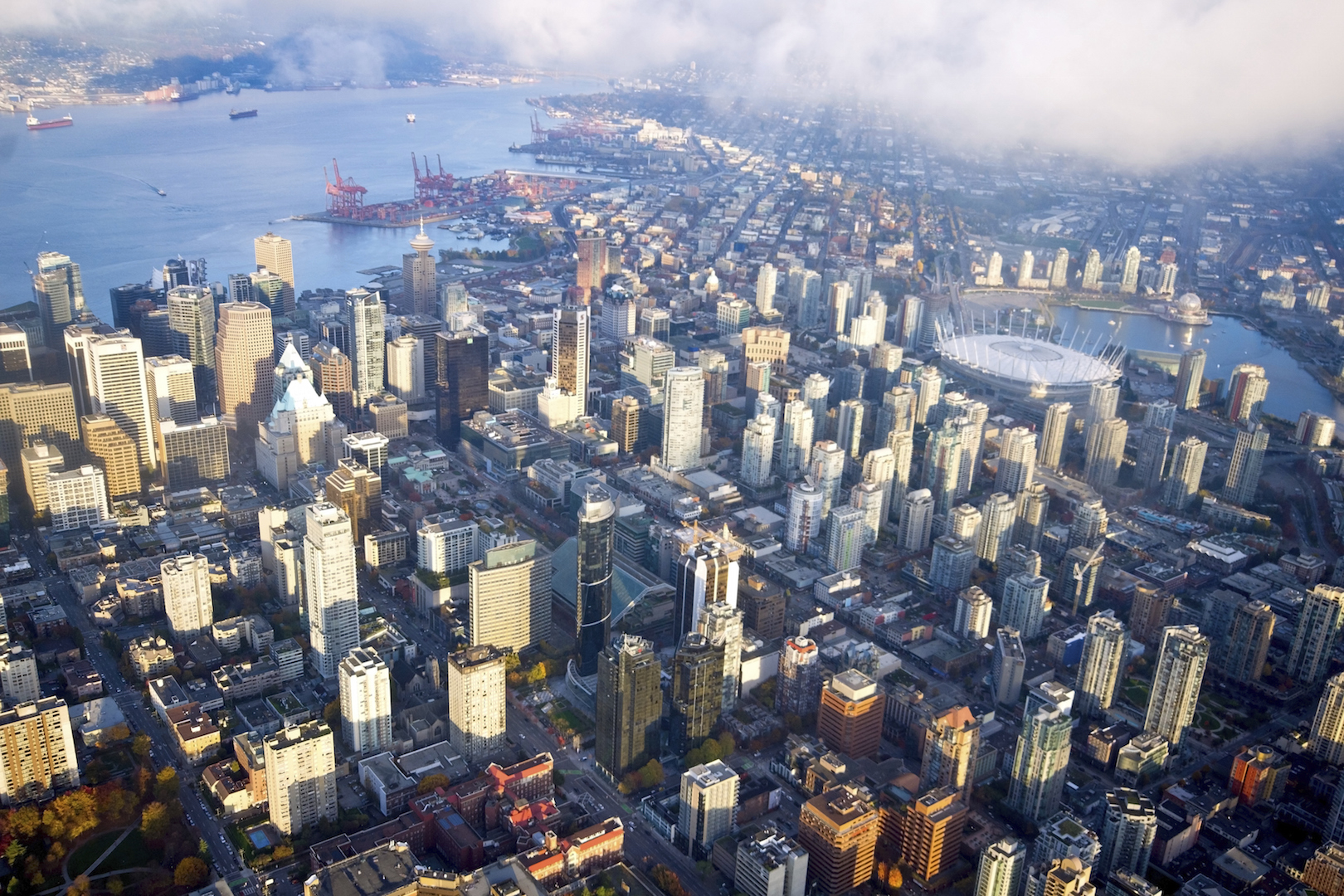 1   downtown vancouver aerial g