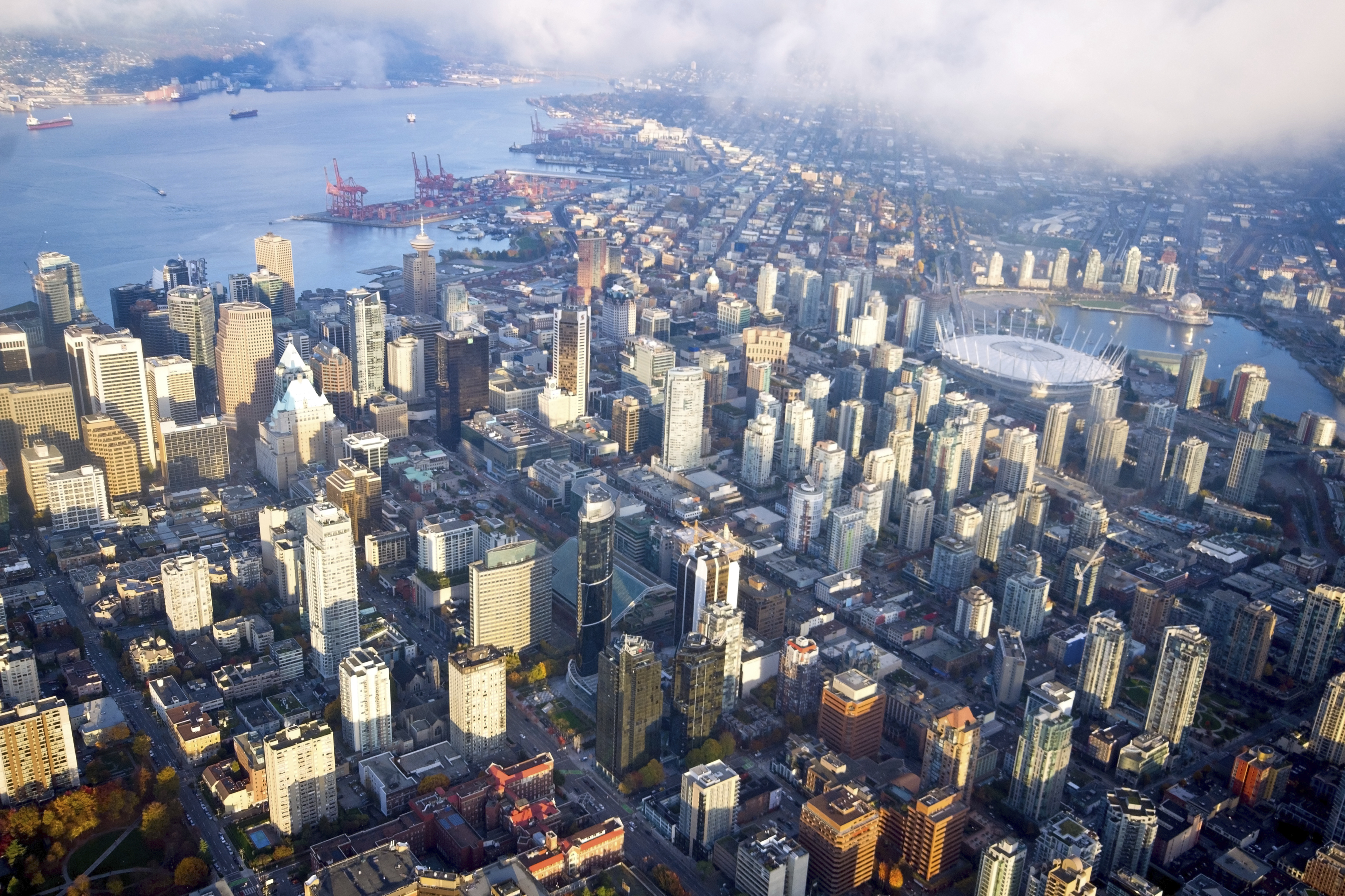 1   downtown vancouver aerial j