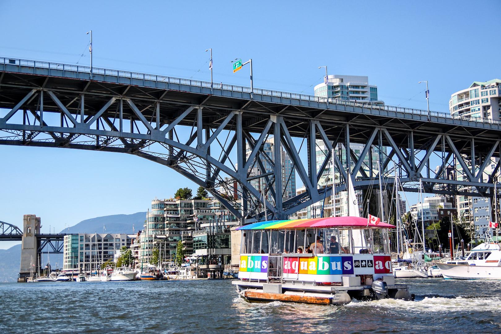 vancouver granville island taxi boat