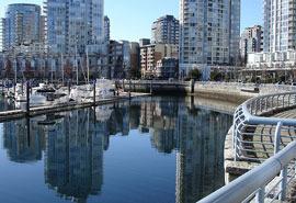 Yaletown seawall Vancouver Neighbourhood Downtown