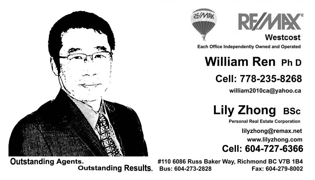 business card of william ren