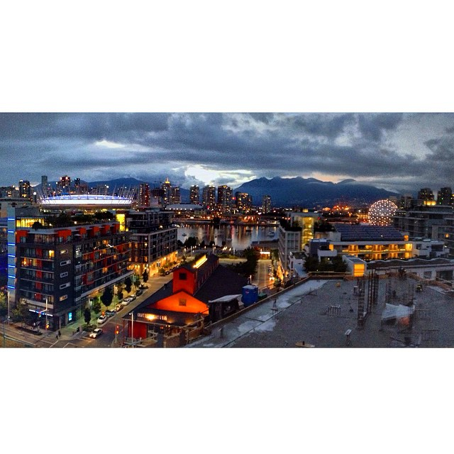 and thats the kind of day it was saturday evening vancouver cityscape from the olympic villagese false creek neighbourh