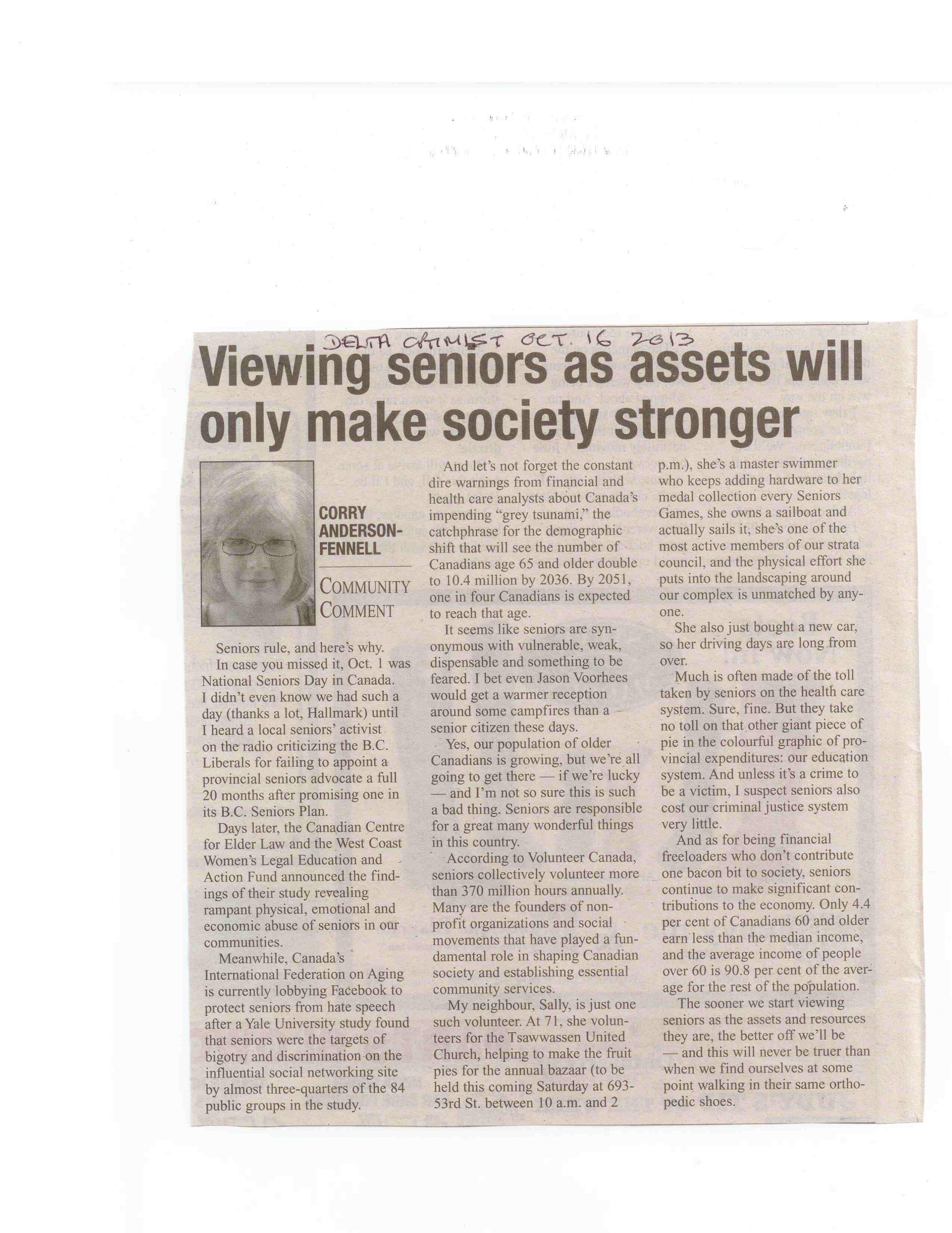 seniors article optimist october 16 2013 a