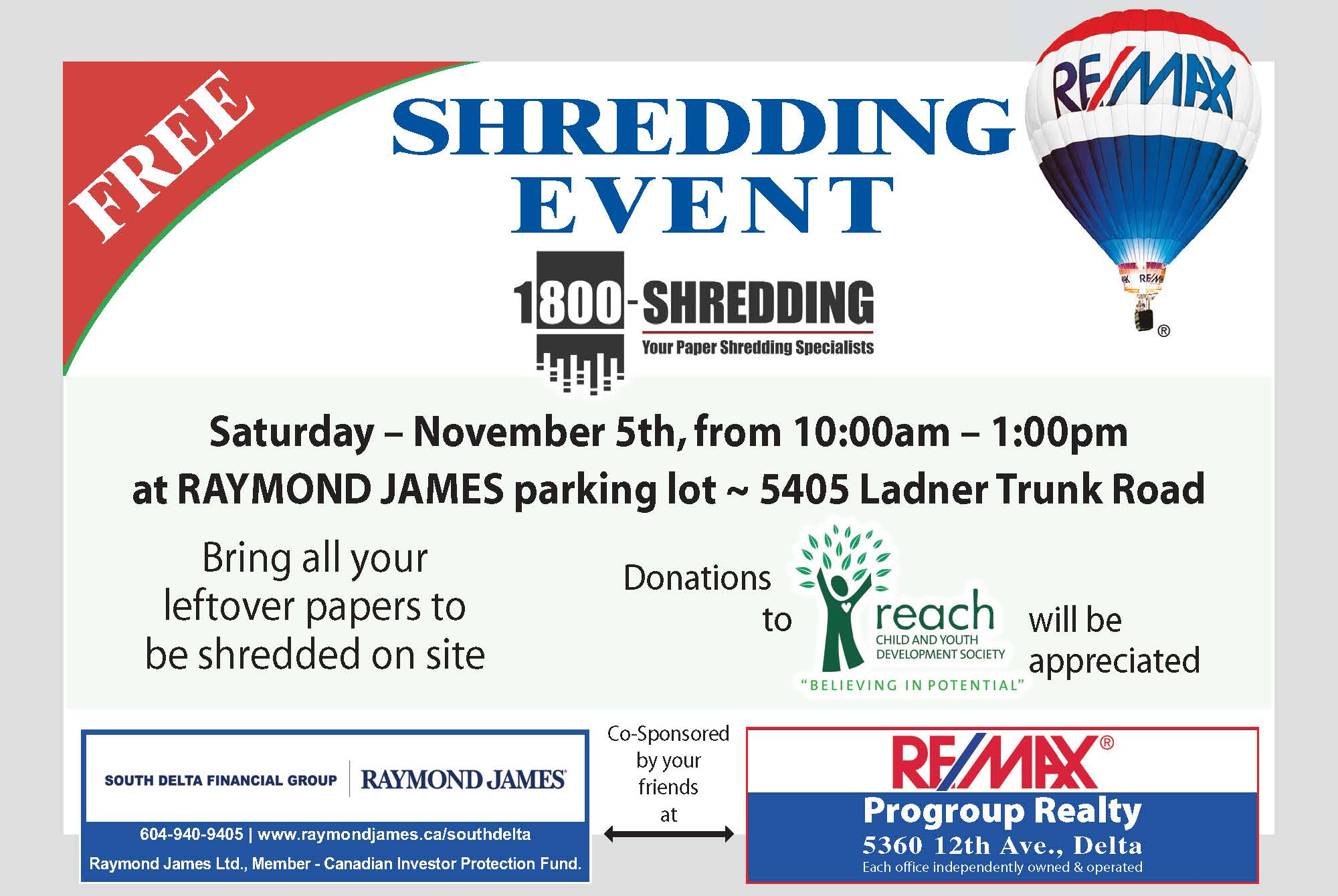 shredding event nov 5 2016