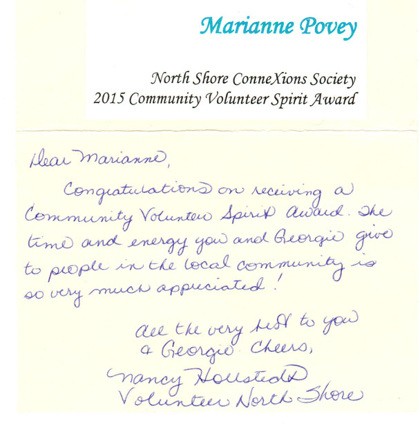 volunteer award letter a