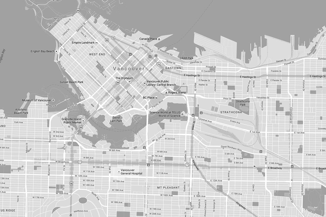 Downtown Vancouver Bc Map on